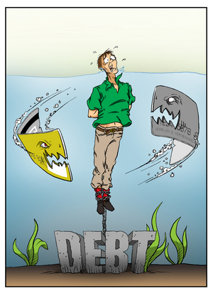 credit card debt cartoon. Credit Card Industry — South