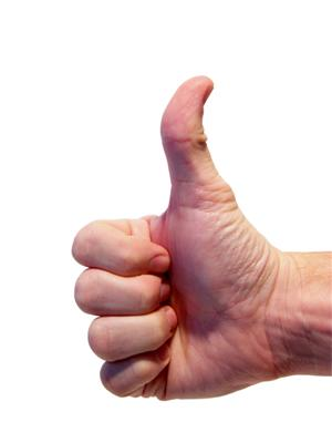 A Positive Thumbs Up Sign