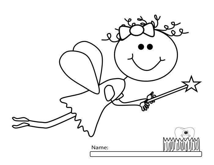 Breaking tooth fairy authorized flat siding installation for Tooth fairy coloring pages